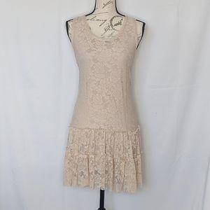 EUC Ginger G lace overlay dress